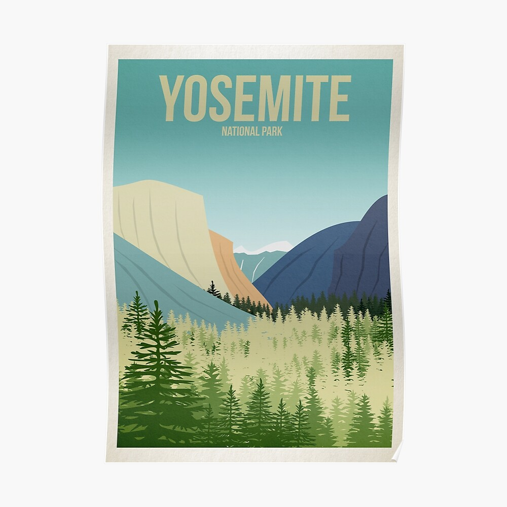 Yosemite Nationalpark Poster