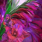 Gladiolus In Red by Carol  Cavalaris