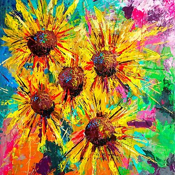 Garish Sunflowers by Ambrosia