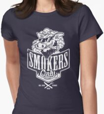 Smokers Only BBQ (White) Women's Fitted T-Shirt