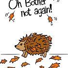 Funny Fall Porcupine  by HoneybethStudio