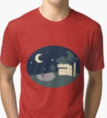 Quad Sticker Tri-blend T-Shirt
