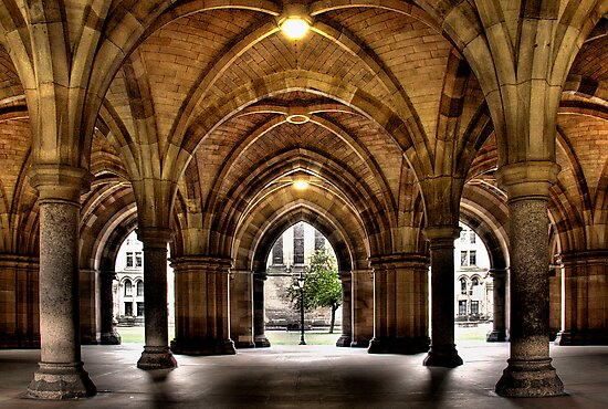 Cloisters at the University by Thistle Images