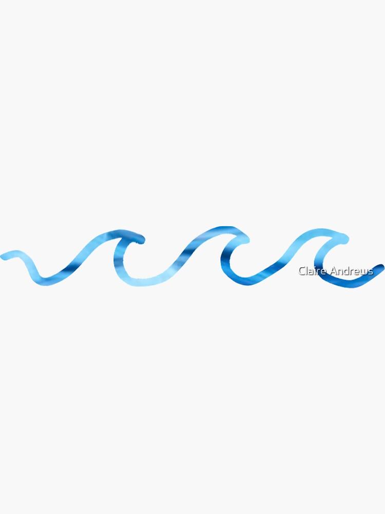 Riptide Wave Design Sticker by Claireandrewss