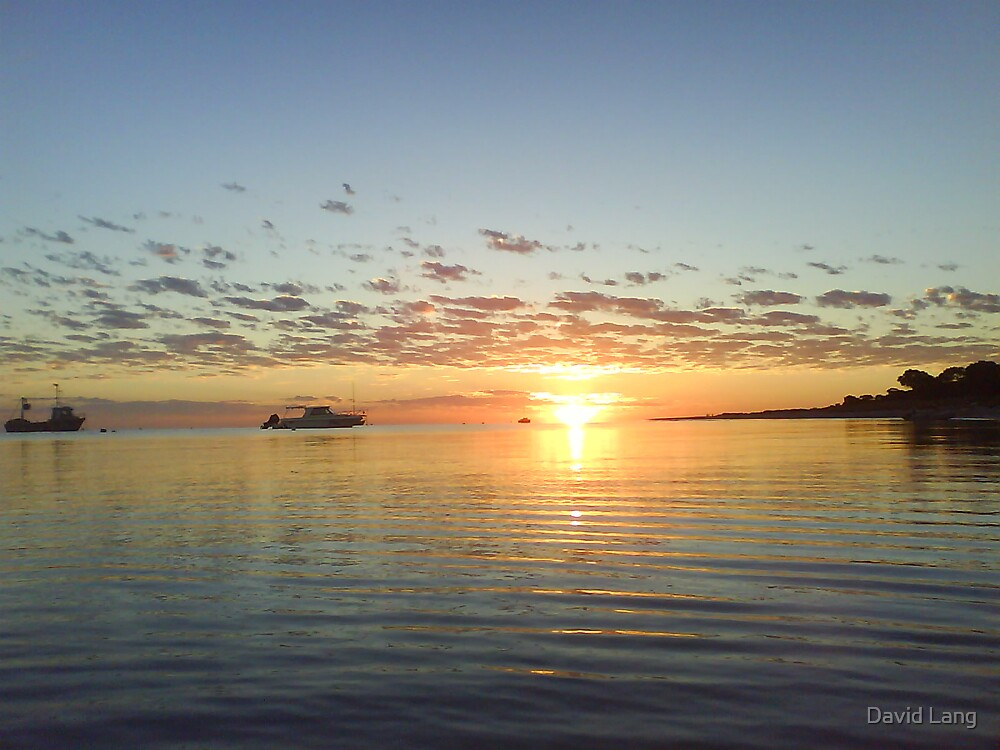 Sunrise on Geographe Bay by David Lang
