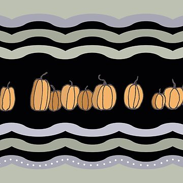 Pumpkins on Lavender and Sage by MelissaB