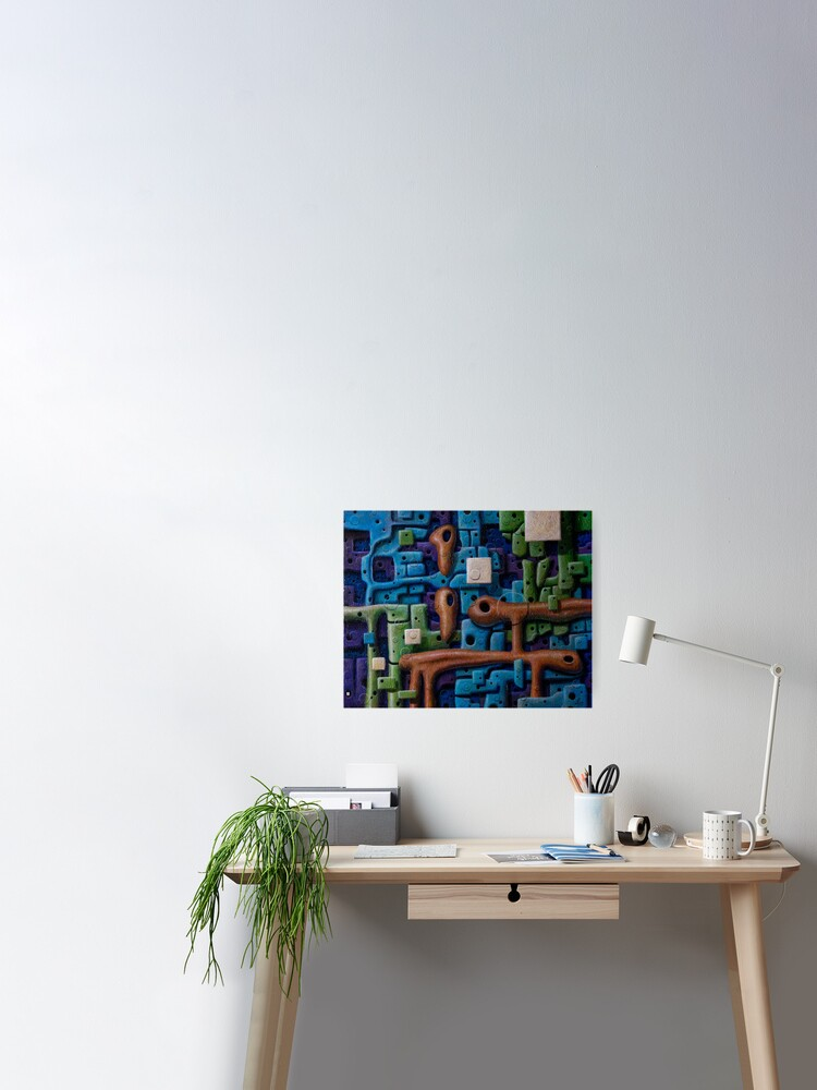 7 Layers Of Reality Poster By Kwlevi Redbubble