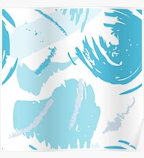 Brush strokes pattern 1 Poster