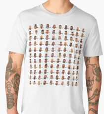 Rock Battle Pixel Musicians Rocking Guitar and Bass Men's Premium T-Shirt