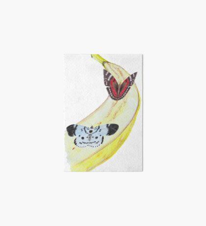 Bytterfly Banana Feast Art Board Print