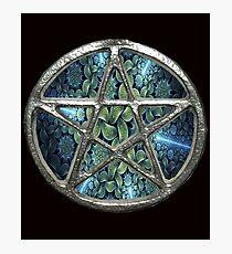 Fractal Water Pentagram Pentacle Wicca Photographic Print