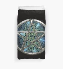 Fraktal Wasser Pentagram Pentacle Wicca Bettbezug