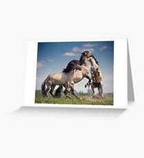 Dancing Horses Greeting Card