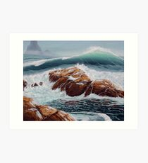 Waves and Tide Pools Art Print