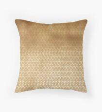 Basket concept - gold look Throw Pillow