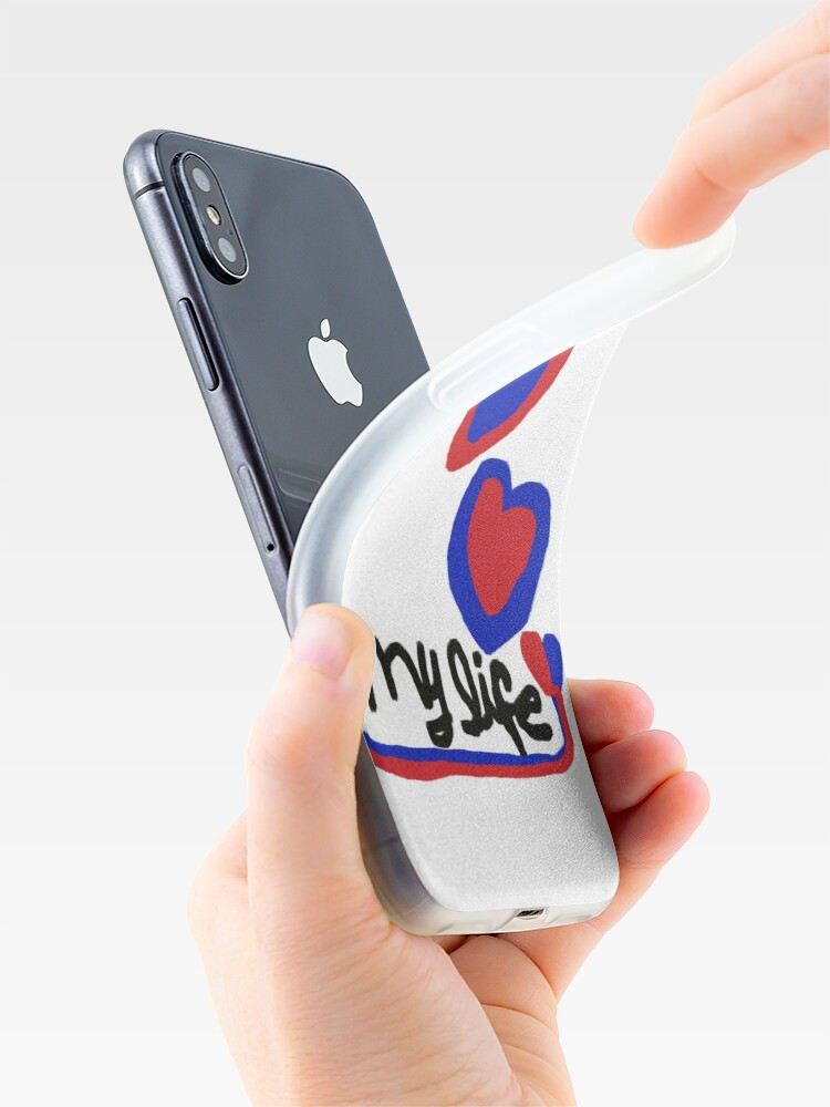 Alternate view of love My life Heart T-Shirt Blue Red Hearts iPhone Case & Cover
