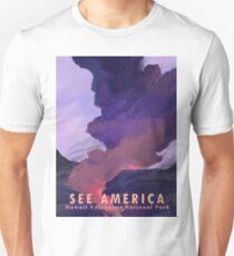 Travel Print Poster – See America (Hawaii Volcanoes National Park) T-Shirt