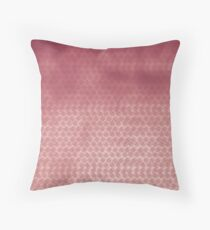 Basket concept - metallic pink look Throw Pillow