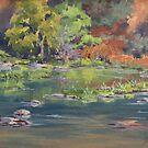 On the River - Plein Air by Karen Ilari