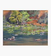 On the River - Plein Air Photographic Print