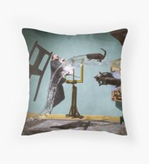 Dali Atomicus - by Philippe Halsman - colored Throw Pillow