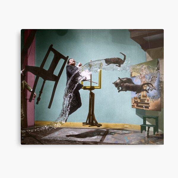 Dali Atomicus - by Philippe Halsman - colored Metal Print