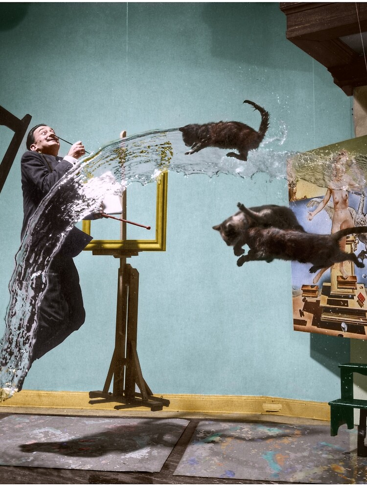 Dali Atomicus - by Philippe Halsman - colored by hton