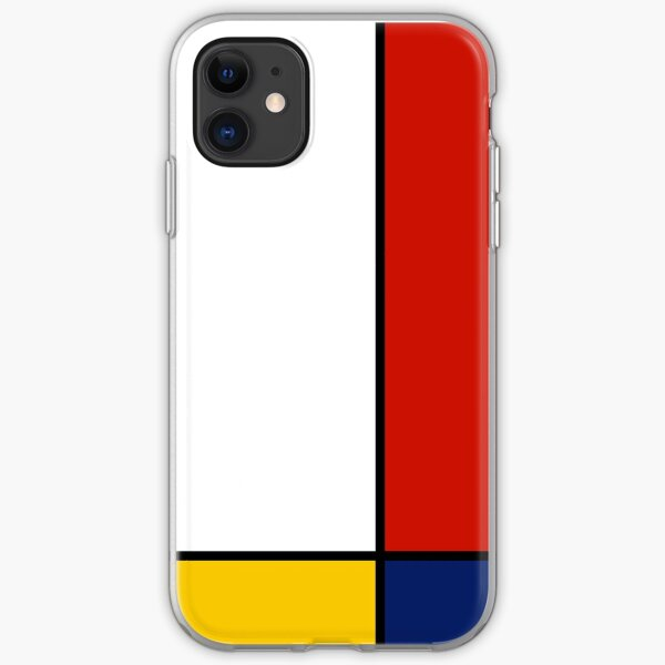 Mondrian Style Abstract Art iPhone Soft Case