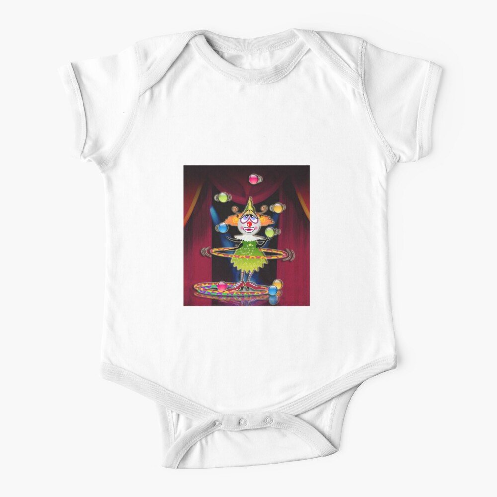 The Fleas Circus The Clown Baby One Piece By Kartoon Redbubble