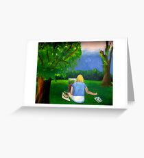 Painting Plein Aire Greeting Card