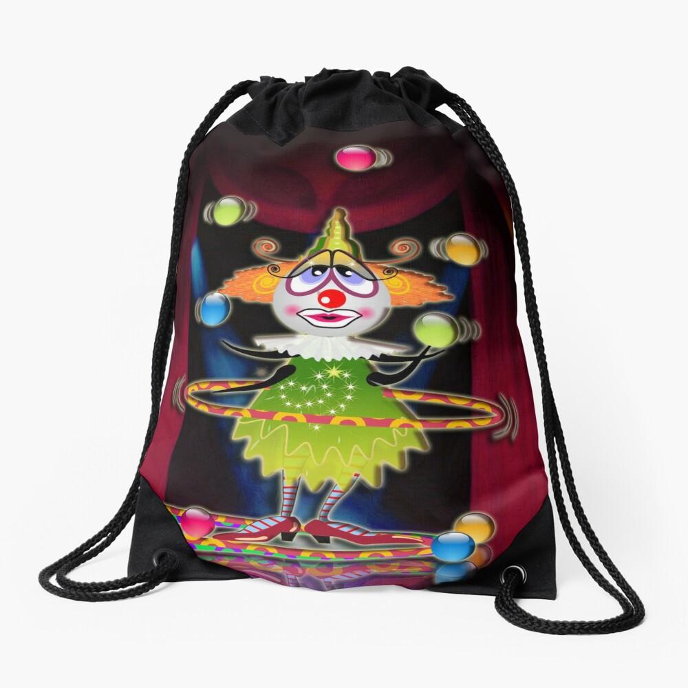 The Fleas Circus - THE CLOWN Drawstring Bag
