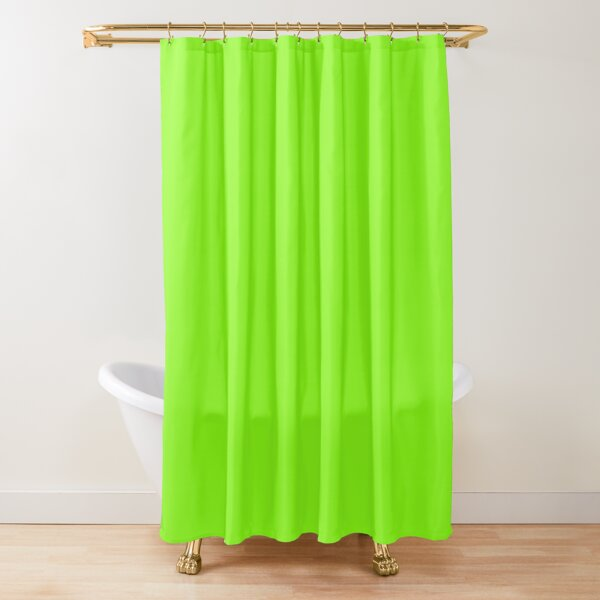 Super Bright Chartreuse Solid Neon Green Shower Curtain