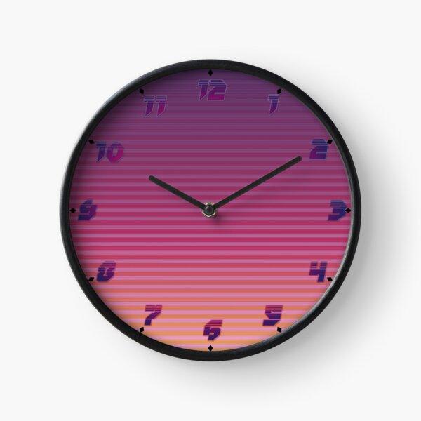 Vaporwave Retro Clock des années 80 Horloge