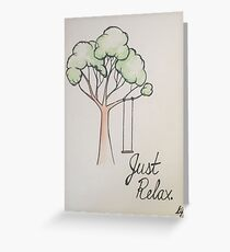 """""""Just Relax"""" Watercolor Painting (PaintingTherapy) Greeting Card"""