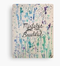 """Mistakes can be Beautiful"" - Watercolor Painting (PaintingTherapy) Canvas Print"
