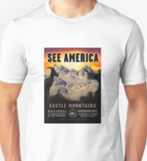 Vintage Travel Poster – See America (Castle Mountains National Monument) T-Shirt