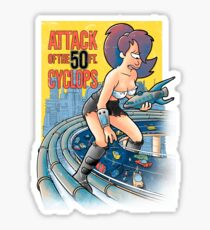 Attack of the 50 ft cyclops Sticker