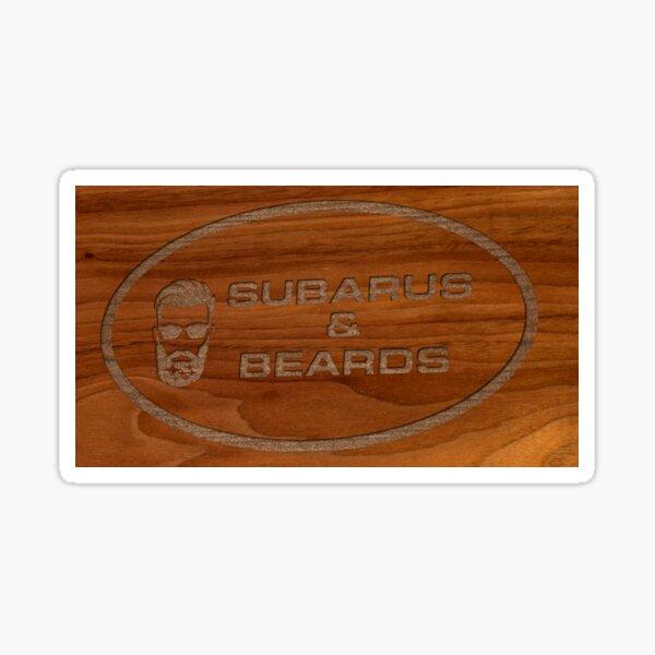 Subarus & Beards Sticker
