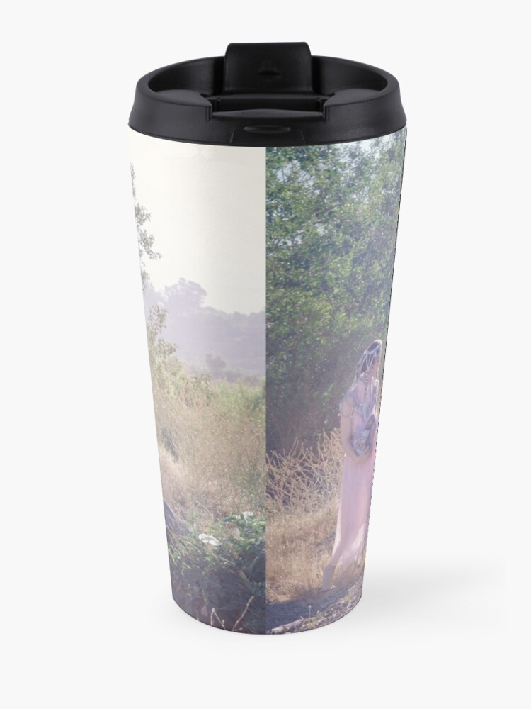 Alternate view of A Journey Into Strange Lands Travel Mug