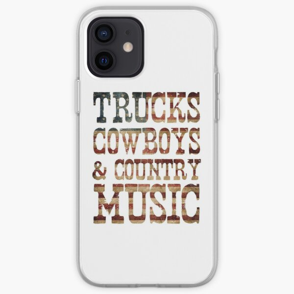 Trucks, Cowboys & Country Music iPhone Soft Case