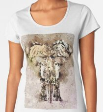 Abstract Elephant Painted Women's Premium T-Shirt