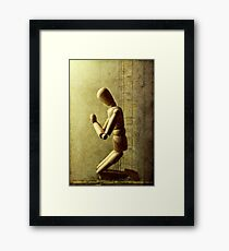 a word with his god..... Framed Print