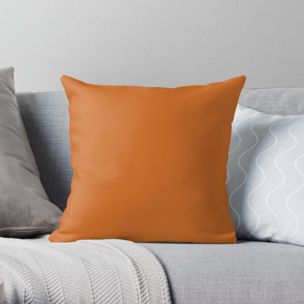 PLAIN SOLID CINNAMON  BROWN -100 BROWN SHADES ON OZCUSHIONS ON ALL PRODUCTS Throw Pillow