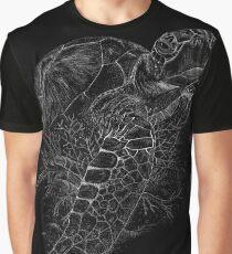 Sea Turtle - Scraperboard-black Graphic T-Shirt