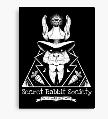 The Secret Rabbit Society Canvas Print