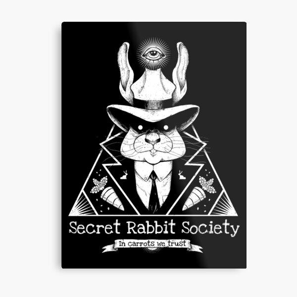 The Secret Rabbit Society Metal Print
