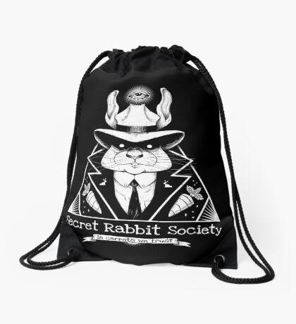 The Secret Rabbit Society Drawstring Bag