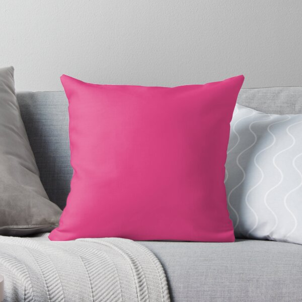 Plain Cerise Pink - Over 100 shades of Pink on Ozcushions  Throw Pillow
