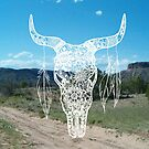 Southwestern Bull Skull by julieerindesign