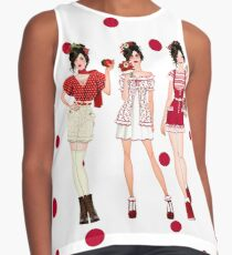 Fashion illustration in Red Contrast Tank